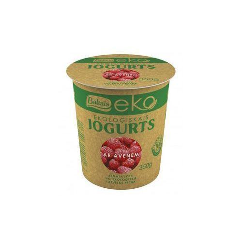 Jogurt malinowy bio 350 g - eko marki Baltais