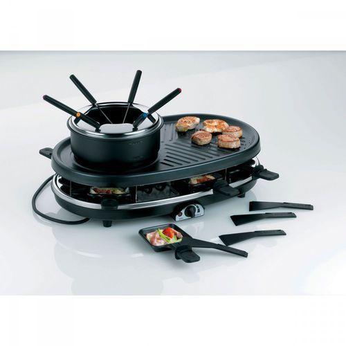Kela Zestaw grillowy do raclette i fondue czarny