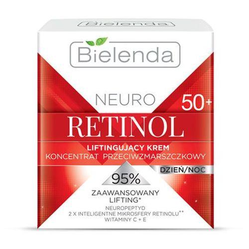 Liftingujący krem przeciwzmarszczkowy 50+ neuro retinol 50ml marki Bielenda