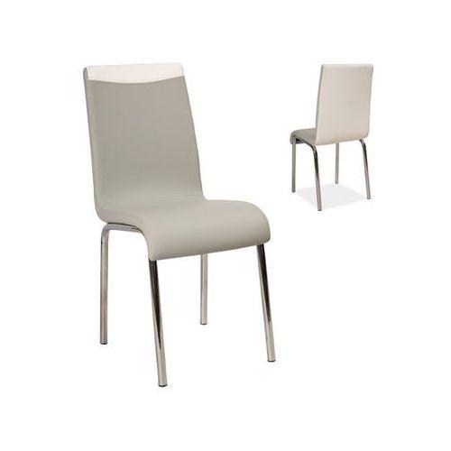 Nowoczesne krzesło H-161 grey/white, kolor biały