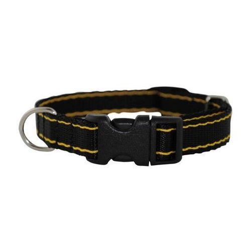Chaba Obroża taśma regulowana czarno żółta 30mm/66cm