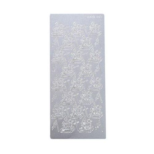 Sticker srebrny 01867 - baranek wielkanocny x1 marki Herma