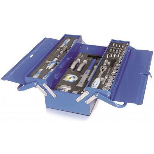 zestaw narzędzi w metalowej skrzynce, 86 szt marki Erba