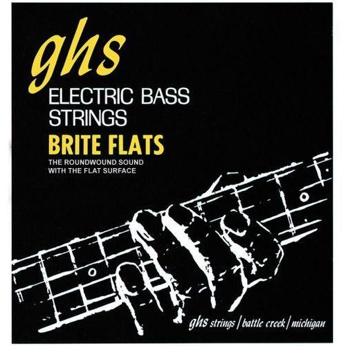 GHS Brite Flats struny do gitary basowej 4-str. Regular,.049-.108, Short Scale