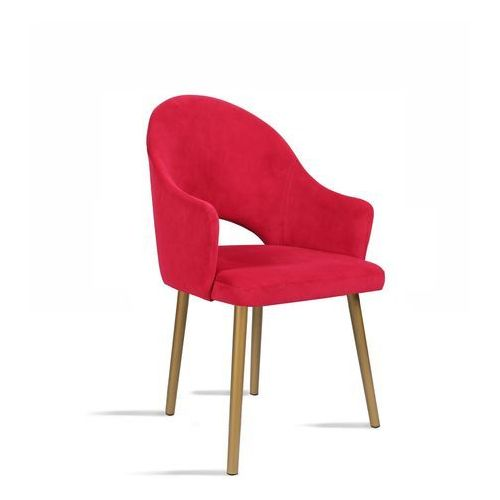 Krzesło BARI czerwony / noga złota/ TR9, 28 dni roboczych