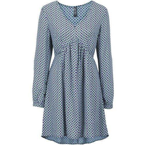 Sukienka bonprix kobaltowo-jasny lila z nadrukiem