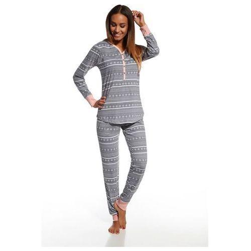 Cornette piżama damska 643/111 stars 5 grafitowy, kolor szary