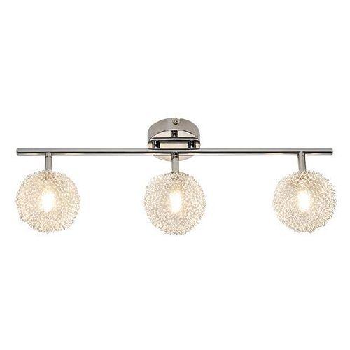 Trio rl wire r81323106 plafon lampa sufitowa 3x28w g9 chrom / transparentny (4017807214499)