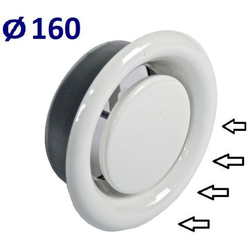 Systerm Anemostat wywiewny średnice od 100 do 200 zawór do wentylacji wszystkie średnice średnica [mm]: 160