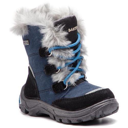 Śniegowce BARTEK - 41528/J5A Czarno Niebieski