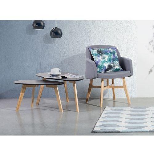 Stolik kawowy czarny - ława kawowa - stół - fly ii marki Beliani