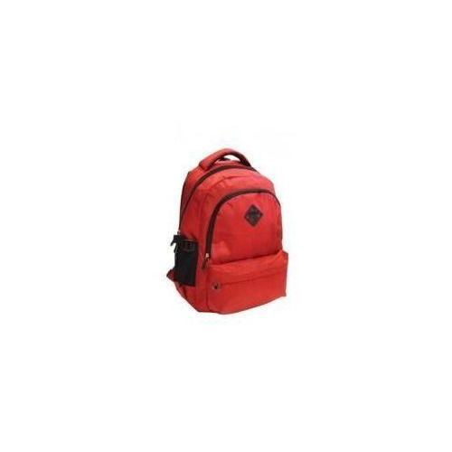 Plecak zaokrąglony Kolor Watt czerwony STREET, kolor czerwony