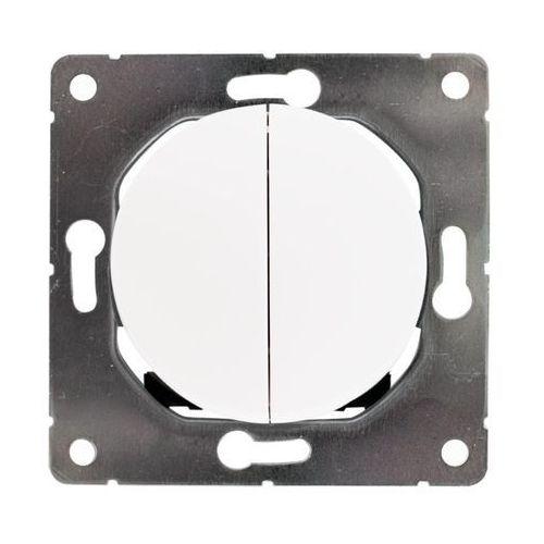 Dpm solid Włącznik podwójny soul biały (5903332580606)