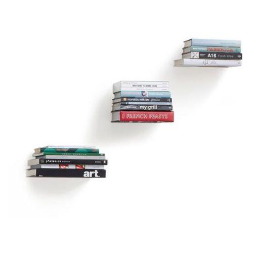 Umbra - półka na książki conceal - srebrna - 3 szt