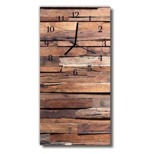 Zegar Szklany Pionowy Klasyczny Drewno drewniany brązowy, kolor brązowy
