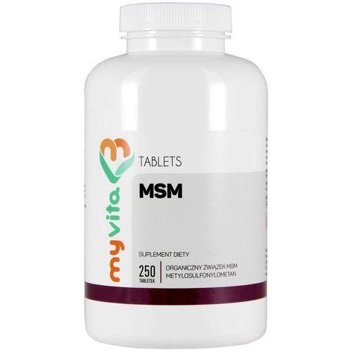 MSM 500 mg - 250 tabletek MyVita (5905279123731)