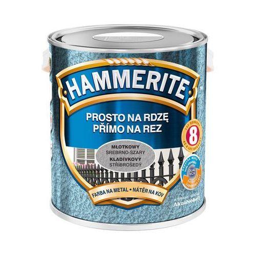 Hammerite Farba prosto na rdzę - efekt młotkowy srebrno-szary 2,5l (5011867039770)