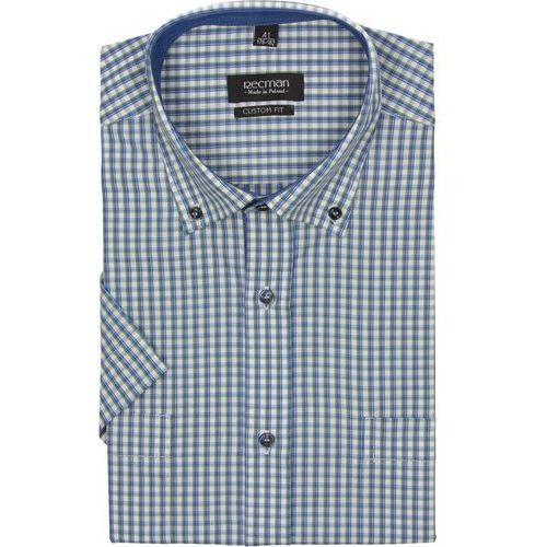 Koszula bexley 2317 krótki rękaw custom fit zielony marki Recman