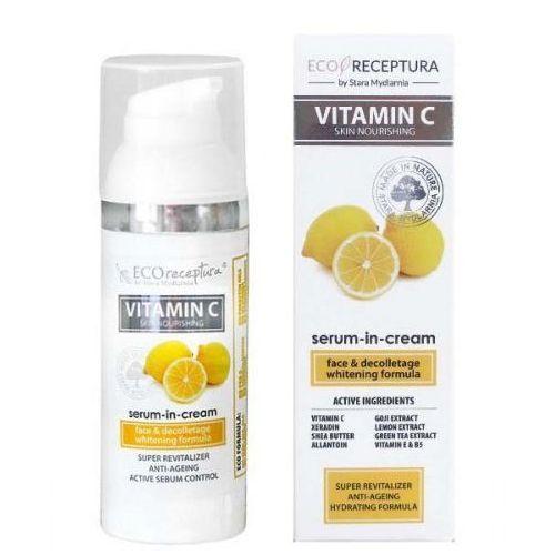 Vitamin c - kremowe serum do twarzy anti-age 50 ml marki Stara mydlarnia