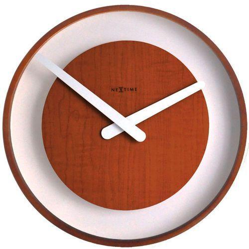 NeXtime - zegar ścienny Wood Loop 30 cm - brązowy