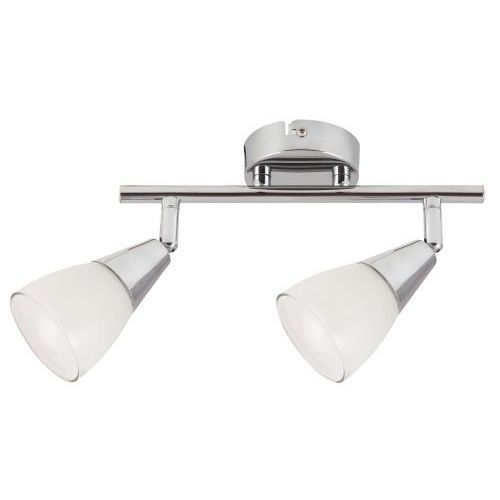 Listwa lampa sufitowa Rabalux Nicolette 2x40W E14 chrom/biały 6768 (5998250367682)