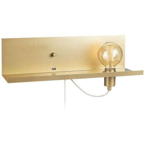 Ścienna LAMPA industrialna MULTI 107791 Markslojd metalowa OPRAWA półka kinkiet loftowy złoty, 107791