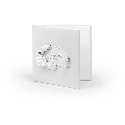 Etui na płyty CD lub DVD białe z białymi kwiatkami - 1 szt.