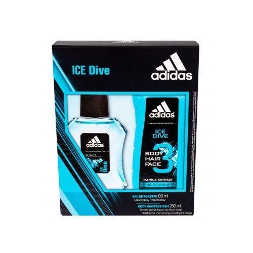 Adidas ice dive zestaw edt 100ml + 250ml żel pod prysznic dla mężczyzn