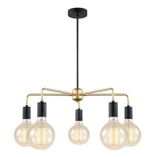 Italux Lampa wisząca malene loft mdm3386/5 bk+gd - - rabat w koszyku (5900644434665)