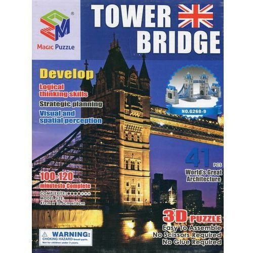Puzzle 3D Budowle Empire state Tower Bridge 41 - Lean Toys