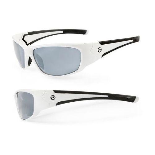 Accent Okulary freak biały / kolor soczewek: przydymione / rodzaj szkieł: standardowe