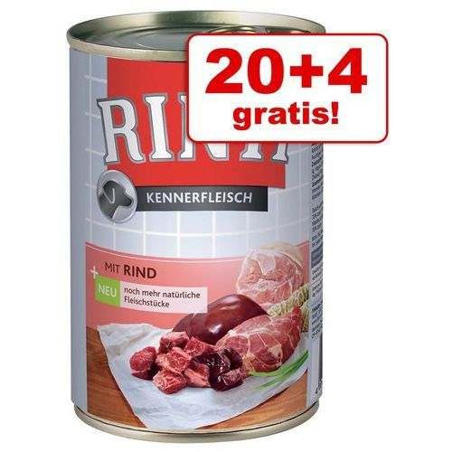 20 + 4 gratis! Rinti Pur, 24 x 400 g - Kaczka