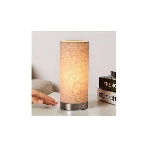Lampenwelt Kremowa lampa stołowa ronja z tkaniny (4251096518436)