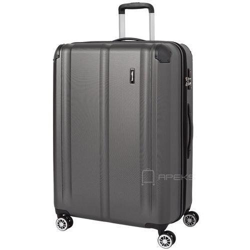 city duża walizka poszerzana 77 cm / szara - szary marki Travelite