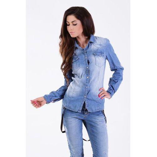 """Koszula z łatkami """"model 214101"""" - xl marki Romaboma"""
