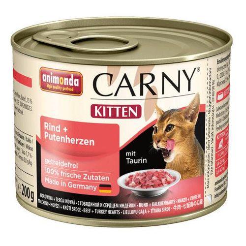 carny kitten wołowina i serca indyka 200g marki Animonda