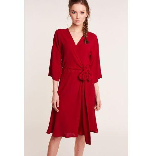 04ecb6b2fb suknie sukienki czerwona kopertowa sukienka z koronka 356 3 czerwone ...