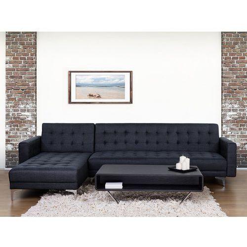Sofa antracytowa - kanapa - tapicerowana - rozkładana - ABERDEEN, kolor szary