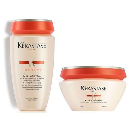 Kérastase Kerastase magistral | zestaw do włosów grubych i mocno przesuszonych: kąpiel 250ml + maska 200ml (9753198541854)