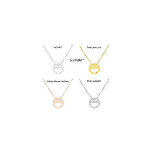 Naszyjniki celebrytki 20 modeli również złocone i złocone na różowo, H-Celebrytki