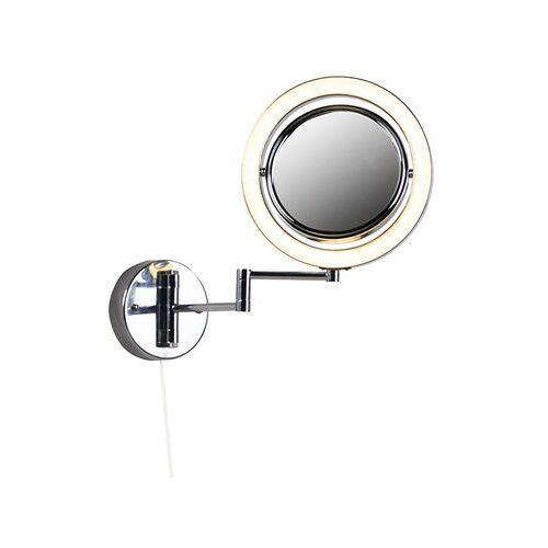 Designerskie lustro łazienkowe chrom regulowane LED IP44 ze sznurkiem - Vicino