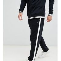 big & tall player logo jogger zip hem side tape in black - black marki Polo ralph lauren