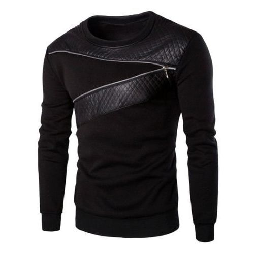 Splicing zipper design sweatshirt for men marki Rosegal
