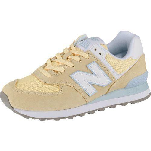 trampki niskie jasnoniebieski / żółty / biały marki New balance