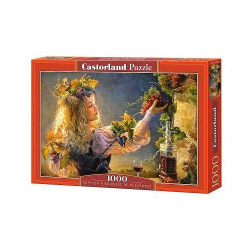 Puzzle . 1000 elementów (c-103157-2) a bouquet of pleasures + zakładka do książki gratis marki Castorland