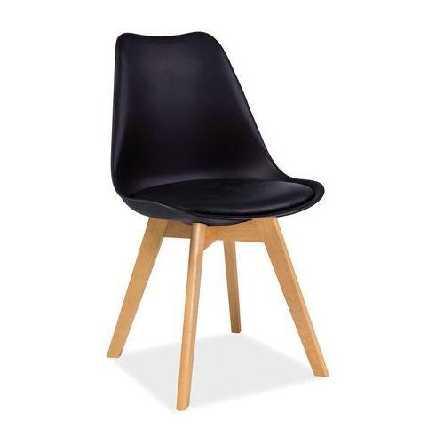 Krzesło kris buk czarny marki Signal meble