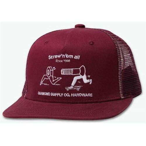 Czapka z daszkiem - screwnem all trucker hat burgundy (bur) rozmiar: os marki Diamond