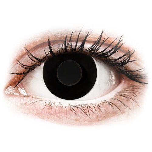 Crazy lens - black out - jednodniowe zerówki (2 soczewki) marki Gelflex
