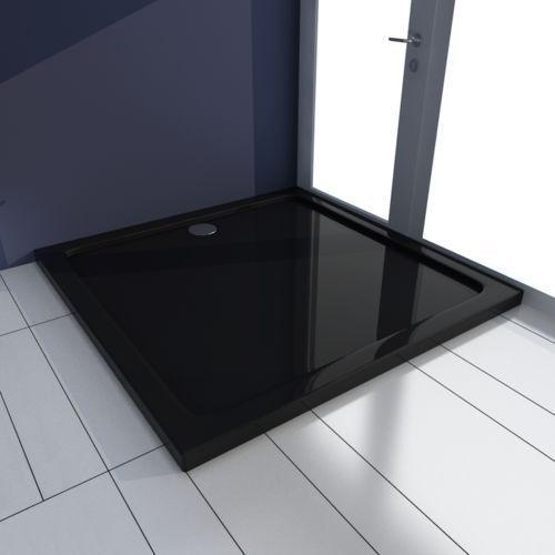 Vidaxl  brodzik kwadratowy czarny 90 x cm (8718475904984)
