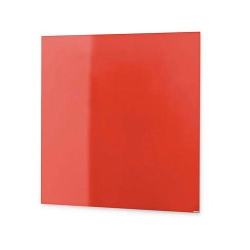 Szklana tablica suchościeralna, 500x500 mm, jaskrawy czerwony marki Aj produkty